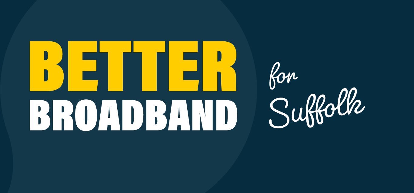 Logo saying Better Broadband for Suffolk